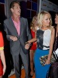David Hasselhoff, 59, and Hayley Roberts, 31, were seen out in London at the Clinton's Celebrity Fastcard event