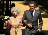 Duchess of Alba, 85, with her new husband Alfonso Diez, 60, at their wedding in Seville