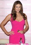 Elizabeth Hurley signed the purchases from Estée Lauder Pink Ribbon Collection at Selfridges, to raise money for breast cancer awareness.
