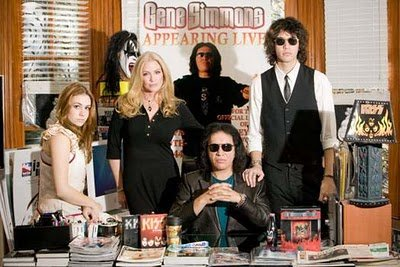 Gene Simmons, Shannon Tweed and their children, Nick and Sophie.