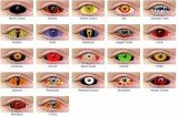 Halloween contact lenses are available in varied colors and designs.