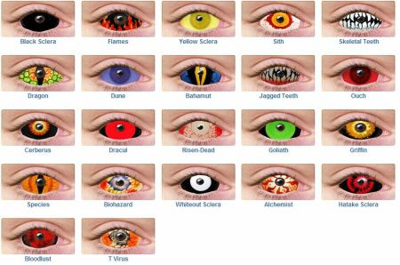 Halloween contact lenses are available in varied colors and designs