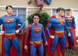 Herbert Chavez, from the Philippines, has had extensive cosmetic surgery to make him look more like Superman