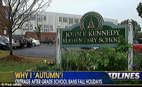 Kennedy Elementary School principal has caused outrage by banning Halloween Thanksgiving and Columbus Day saying they are insensitive photo