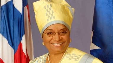 Liberian President, Ellen Johnson Sirleaf is Africa's first female elected head of state