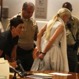 Lindsay Lohan left the court in handcuffs and was taken into custody today after a judge blasted her for violating probation