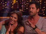 "Maksim Chmerkovskiy got into a blazing row with judge Len Goodman following the couple's Rumba to ""Seasons Of Love"" from the Broadway Musical Rent"