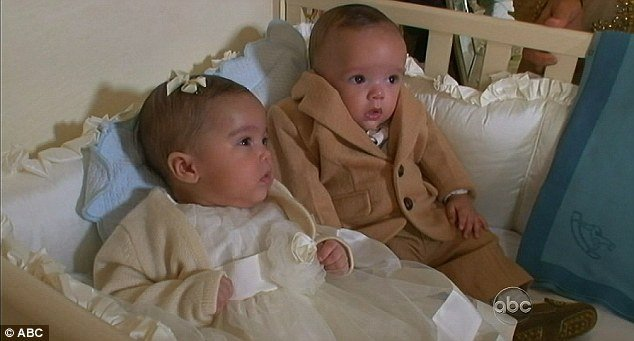 Mariah Carey and Nick Cannon shared the website after the twins made their TV debut with Barbara Walters on TV show 20/20 last night