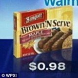 Mary Bach was angered when Walmart made her pay $1 for a box of Banquet Brown 'N Serve sausages, which had been priced at 98 cents