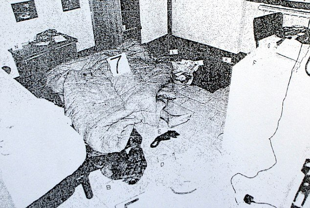 Meredith Kercher crime scene photo