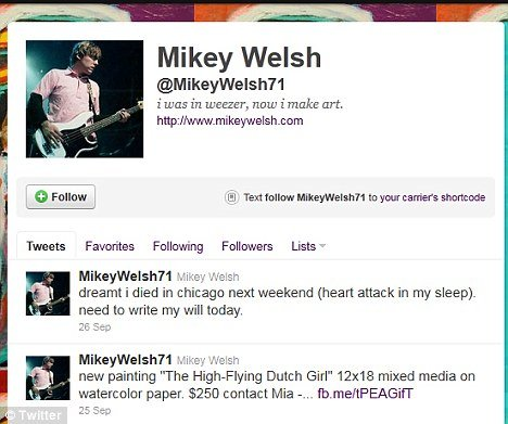 Mikey Welsh's prediction on Twitter