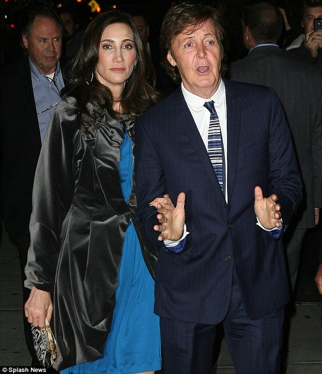 Nancy Shevell, 51, and Paul McCartney, 69, celebrated again their marriage with some of the biggest names in the music industry at the Bowery Hotel in New York City