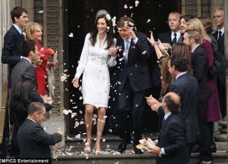 Nancy Shevell and ex-Beatle Sir Paul McCartney married at Marylebone Town Hall in central London on Sunday