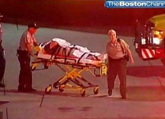 Passengers at Boston Logan Airport were taken to hospital with head, back and neck injuries