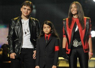 Prince Michael, Blanket and Paris took to the stage dressed in outfits reflecting Michael Jackson's career at the Michael Forever Tribute Concert at the Millennium Stadium in Cardiff