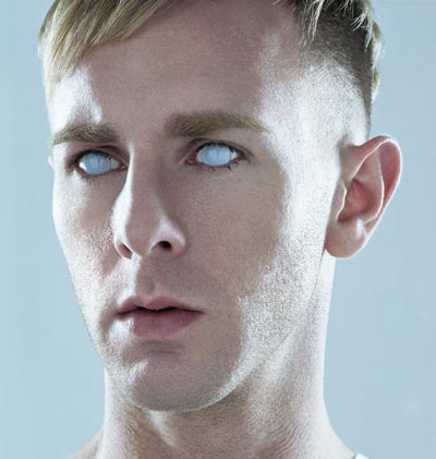 Richie Hawtin wearing blind contacts.