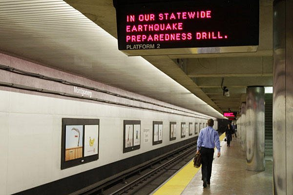 San Francisco quake struck in the same day Californians took part in an annual earthquake preparedness drill