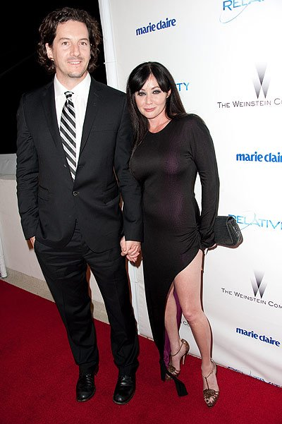 Shannen Doherty, 40, who has married for the third time, wed photographer Kurt Iswarienko at a pal's lavish private estate in Malibu