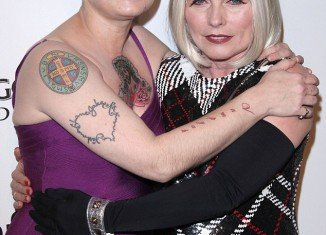 Sinead O'Connor and Deborah Harry looked more erratic than elegant as they posed together at the amfAR Inspiration Gala held at West Hollywood hotel, The Château Marmont
