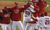 St Louis Cardinals beat Texas Rangers 6-2 in the decisive seventh game and won baseball's World Series 2011