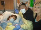 Stacie Crimm, assisted by her siblings, Ray and Elizabeth, meets her baby Dottie Mae before she passed away