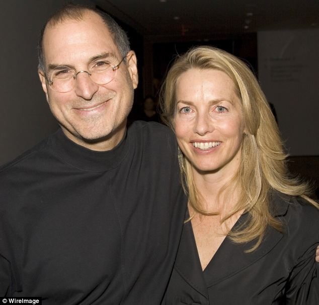 Steve Jobs and his wife Laurene Powell during Pixar Exhibit Launch at The Museum of Modern Art in New York