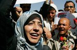 Tawakul Karman was recognized for playing a leading part in the struggle for women's rights in Yemen's pro-democracy protests