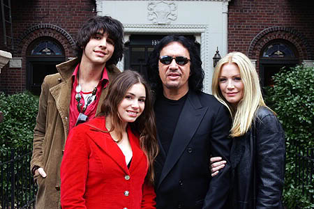 Gene Simmons and his family.
