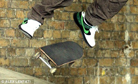 "The teenager was reportedly encouraged to ""film the crazy stuff he does"" but suffered a severe head injury when falling from his skateboard (file picture)"