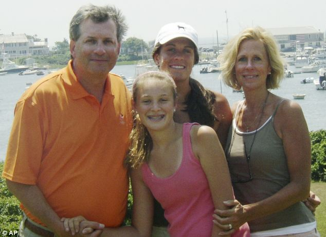 Three of Steven Hayes' victims pictured in a 2007 photo, Jennifer Hawke-Petit, right, and her daughters Michaela, front, Hayley, centre rear