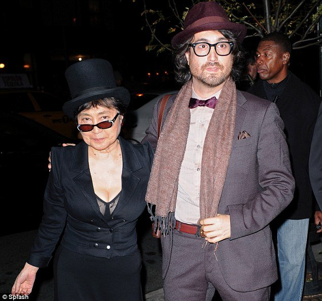 Yoko Ono, widow of late Beatle John Lennon, and their son Sean came to Nancy Shevell and Paul McCartney party in New York