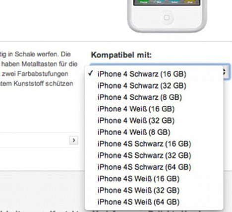 iFun captured this tantalizing glimpse of iPhone 4S on Vodafone Germany's website