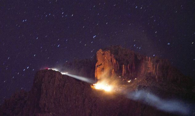A family of six is feared dead after a plane crashed into Arizona' Superstition Mountains last night in a tragic Thanksgiving accident