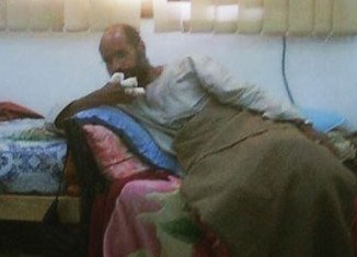 A picture apparently showing Saif al-Islam Gaddafi after his capture has appeared on the page of a Facebook group based in the Libyan town of Sabha