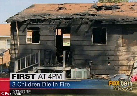 A preliminary investigation indicated an oven left open could be the source of the blaze that killed the three toddlers photo