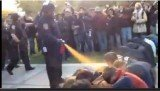 A shocking footage of police forcefully pepper spraying a group of Occupy demonstrators staging a sit down protest the University of California, Davis, has emerged