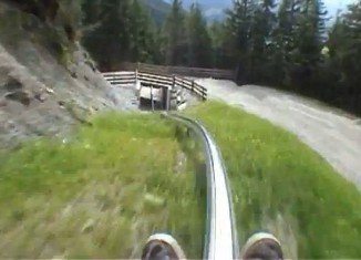 An Austrian alpine-coaster which is located in Mieders offers what is perhaps the most frighteningly fast - and seemingly dangerous - downhill descent