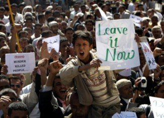 At least five demonstrators have been shot dead by loyalists of Yemeni President Ali Abdullah Saleh during protests in the capital, Sanaa