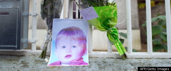 Bastien Champenois, whom neighbours described as blond and angelic, died of head injuries on Friday night
