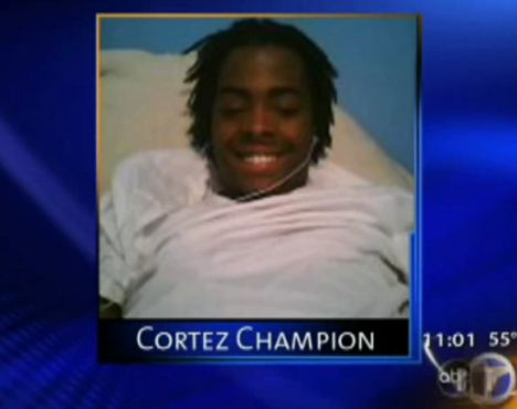 Cortez Champion was a grade school friend of Chanda Thompson's
