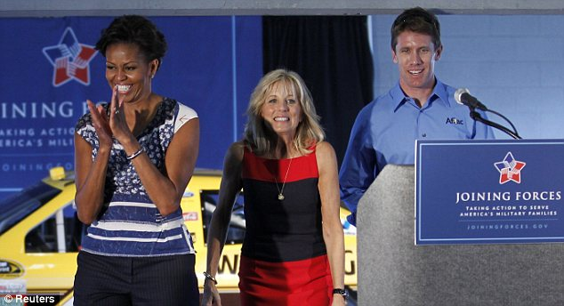 First Lady Michelle Obama and the Vice President's wife, Dr. Jill Biden, were booed before kicking off NASCAR's season finale in Florida