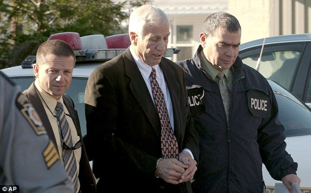 Jerry Sandusky and his lawyer Joe Amendola have maintained that he is innocent and publicly denied all allegations photo