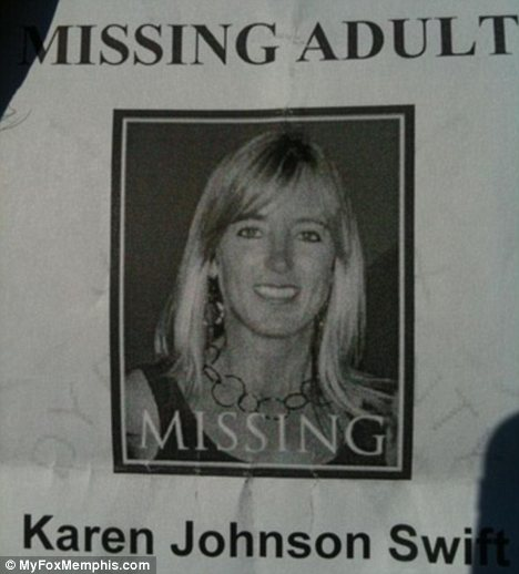 Karen Swift, 44, was reported missing by friends after she was last seen by her husband at home in Dyersburg, early Sunday morning