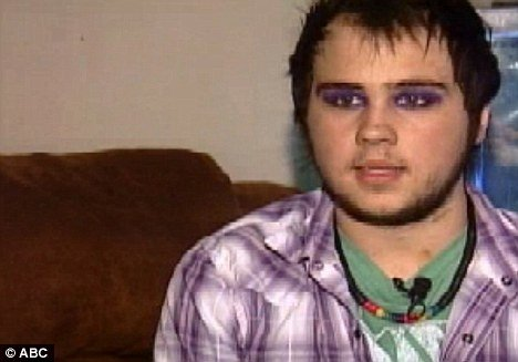 Kasey Landrum, an openly gay Lexington High School student, was given a three-day suspension for wearing make-up in class