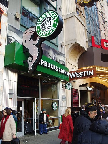 Many of New York' Starbucks stores employees are in open revolt after being forced to clean messes in bathrooms that have become the city's de-facto public toilets