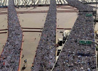 More than three million Muslim pilgrims today symbolically stoned Satan in a valley near the Saudi Arabian holy city of Mina - part of the last, and most dangerous, rite of the annual hajj