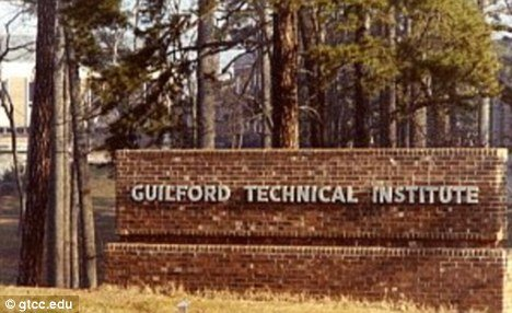 One of the victims was shot and wounded in the car park of Guilford Technical Community College near Greensboro