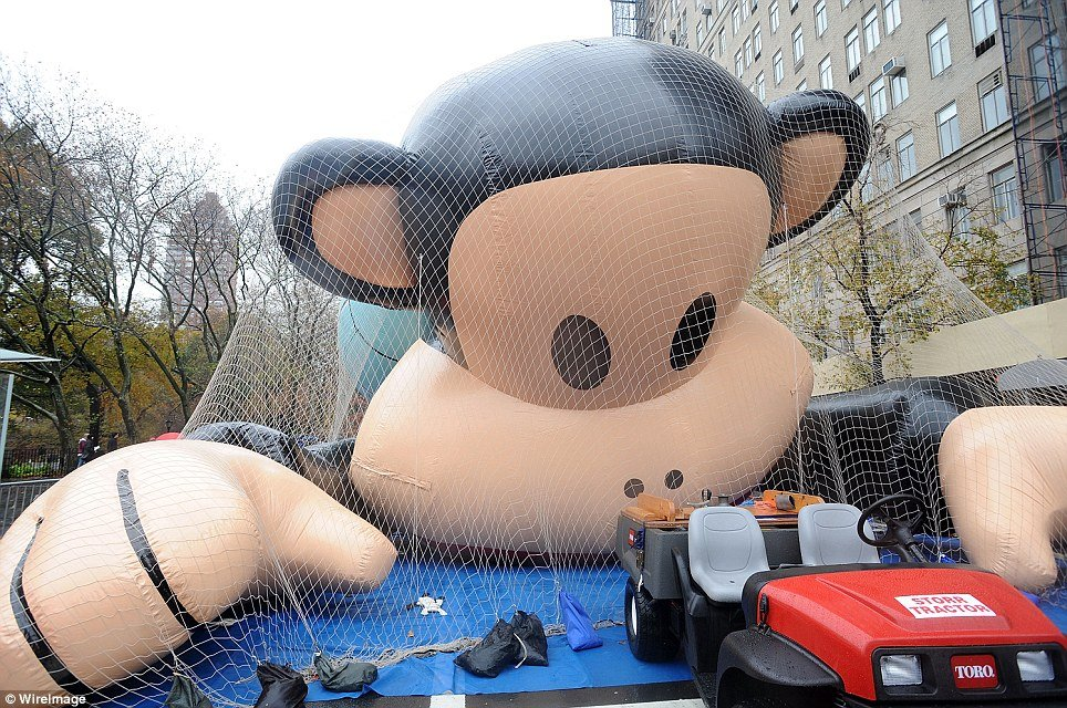 Paul Frank's sock puppet-inspired simian Julius The Monkey makes its debut as a 41-foot-tall balloon at Macy's Thanksgiving Day Parade 2011