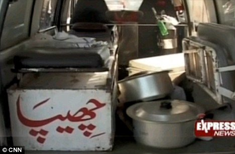Police said that the landlord found Zainab Bibi at the stove, cooking a korma with flesh from her husband's arm and leg