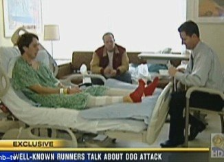 Richard Garritson, a San Diego County runner described the terrifying moment he was savaged by a pack of pit bulls as he jogged on a trail